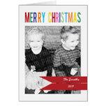 Customisable 3 Photo Christmas Card