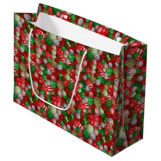 Customisable 3D Christmas Balls Large Gift Bag