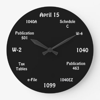 Customisable Accountant Clock - Tax Time Clock