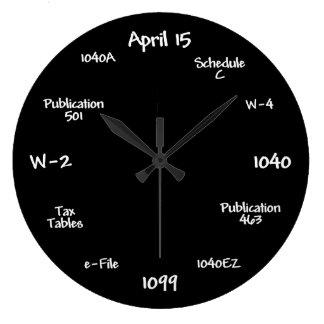 Customisable Accountant Clock - Tax Time Clock