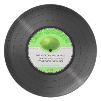 """Customisable album 12"""" LP plate in melamine"""