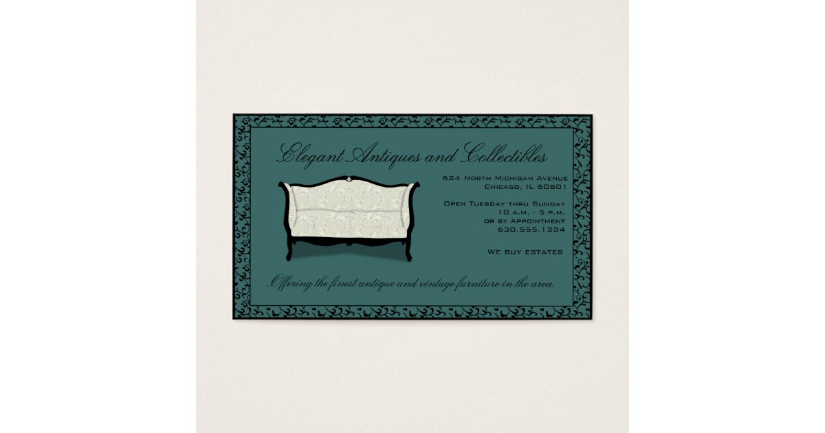 Customisable antiques or upholstery business card zazzle for Upholstery business cards
