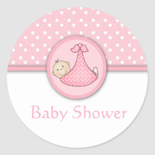 Customisable baby shower stickers zazzle for Stickers pared bebe