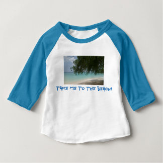Customisable Barbados Beach Baby T-Shirt