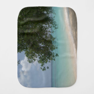 Customisable Barbados Beach Burp Cloth