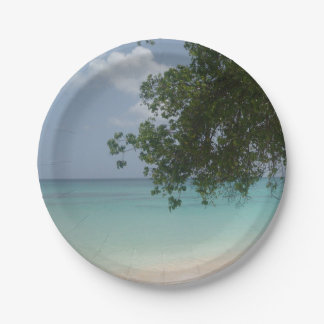 Customisable Barbados Beach Paper Plate