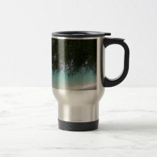 Customisable Barbados Beach Travel Mug