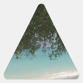 Customisable Barbados Beach Triangle Sticker