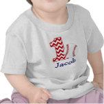 Customisable Baseball First birthday shirt 1 year