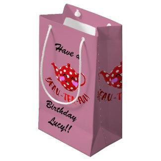 Customisable 'beau-tea-ful' small gift bag