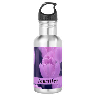 Customisable Beautiful Purple Tulip Back to School 532 Ml Water Bottle