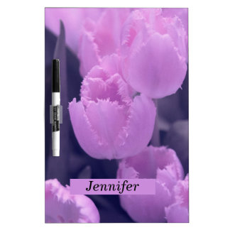 Customisable Beautiful Purple Tulip Back to School Dry Erase Board
