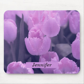 Customisable Beautiful Purple Tulip Back to School Mouse Pad