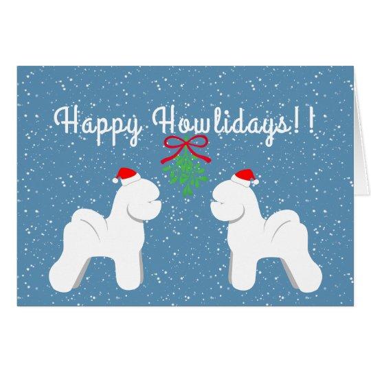 Customisable Bichon Frise Holiday Card
