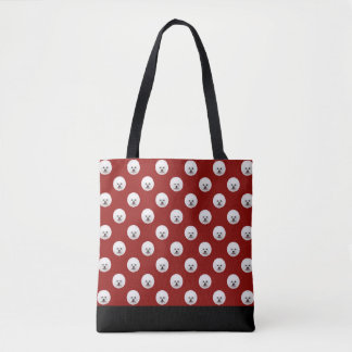 Customisable Bichon Frise Polka Dot Bag