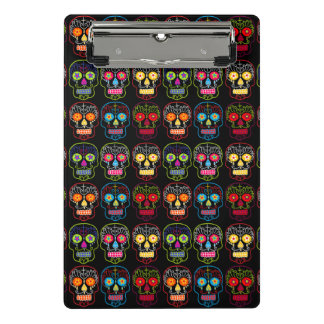 Customisable Black Sugar Skulls Mini Clipboard