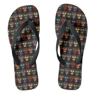 Customisable Black Sugar Skulls Thongs