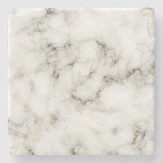 Customisable Black White Marble Stone Finish Stone Coaster