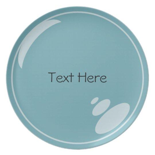 Customisable Blue Bubble Plate
