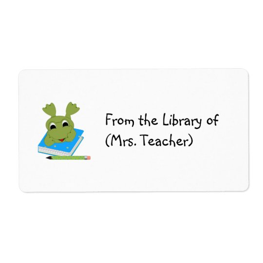 Customisable Book Label Tag/ Sticker