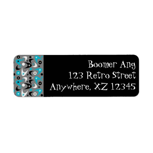 Customisable Boomerang Return Address Label