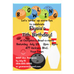 Customisable Bowling Birthday Party Personalised Announcement