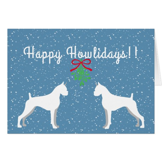 Customisable Boxer Holiday Card