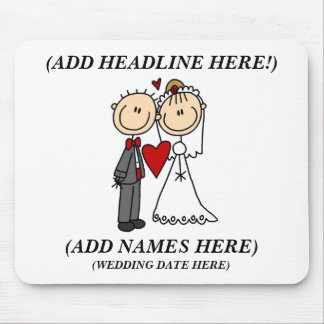 Customisable Bride And Groom Mousepad