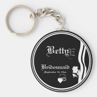 Customisable Bridesmaid Keepsake Keychain