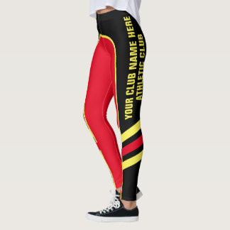 Customisable Bright Colour Side Band Leggings 1