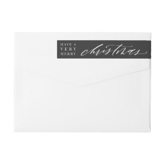 Customisable Calligraphy Christmas Envelope Label