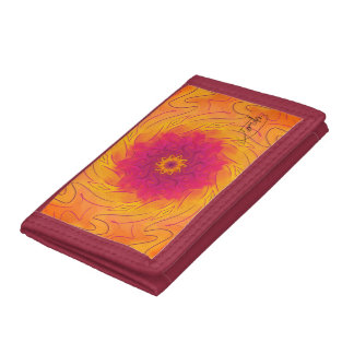 Customisable Carnation (Psychedelic spirograph) Trifold Wallets