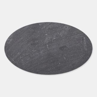 Customisable Chalkboard Background Oval Sticker