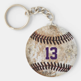 Customisable Cheap Baseball Keychains, YOUR TEXT Basic Round Button Key Ring