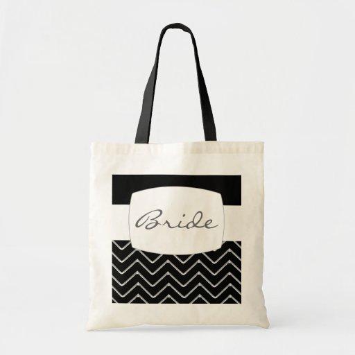 Customisable Chevron (Metallic) (Wedding) Canvas Bags