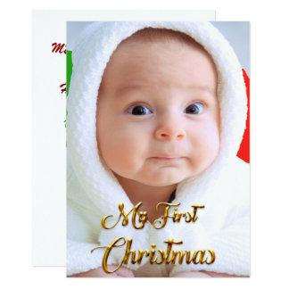 Customisable Christmas Card photo of child