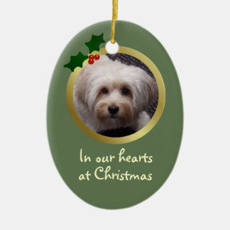 Customisable Christmas Dog Memorial Ornament