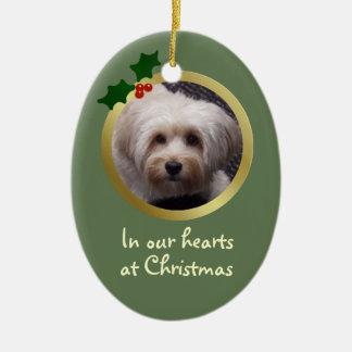 Customisable Christmas Dog Memorial Ornament