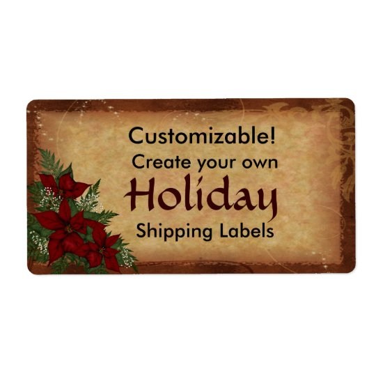 Customisable Christmas Holiday Package Labels
