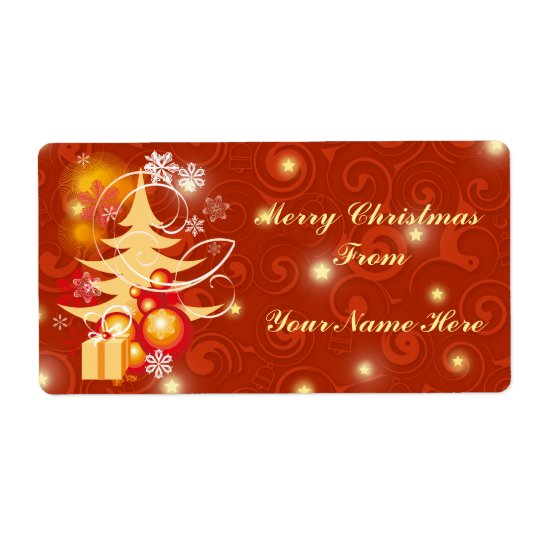 Customisable Christmas present gift labels