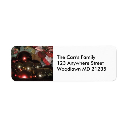 Customisable Christmas Return Address Label