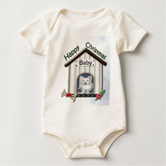 Customisable Christmas Westie Dog Gifts Bodysuits
