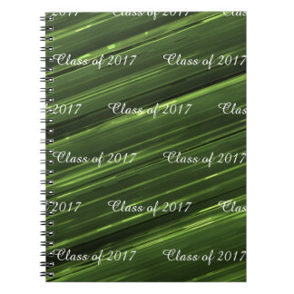Customisable class of 2017 emerald green metal spiral notebook