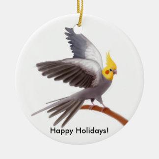 Customisable Cockatiel Parrot Ornament