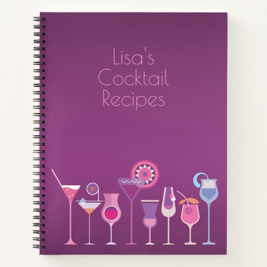 Customisable Cocktail Recipes Book Zazzle Com Au