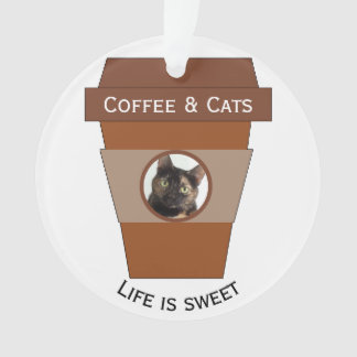 Customisable Coffee & Cats - Life is Sweet Ornament