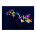 Customisable: Colour cranes Greeting Card