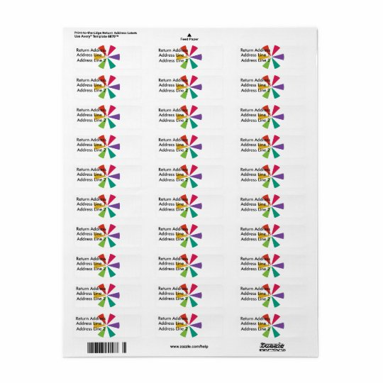 Customisable Colourful Return Address Labels