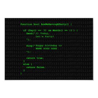 Customisable Computer Program Party Invitation