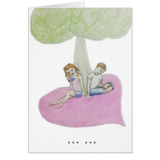 Customisable couple reading on a valentine card